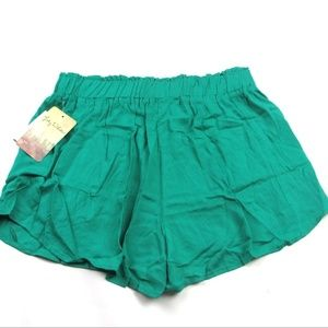 Lily White Smocked Waist Shorts Nordstrom NWT